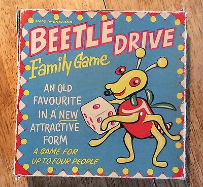 Vintage 1950's Beetle Drive Game - Made in England