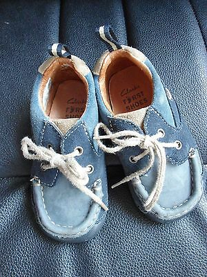 Clarks First shoes Blue suede Size 5F