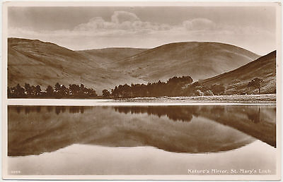 Old Postcard - Nature's Mirror, St Mary's Loch (Unused)