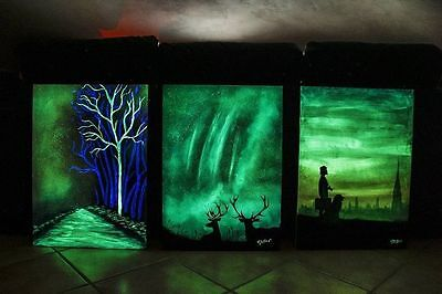 You can create this with Ultra grade Glow in the Dark pigment powder, & paint!