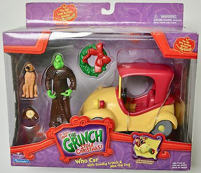 Dr. Seuss How the Grinch Stole Christmas Who Car with Sneaky Grinch & Max Toy