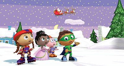 Personalized Christmas letter from Santa with Super Why gifts