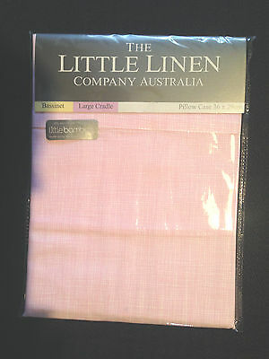 The Little Linen Company Pink Bamboo Pillow Case Bassinet Cradle Cot 36 x 29cm