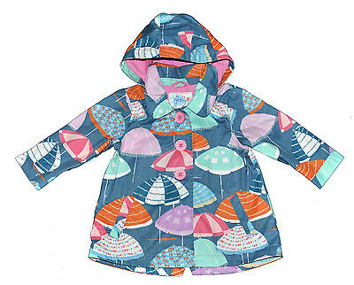 Next Girl Umbrellas Mac Coat Jacket 3-4 Years Eur 104Cm  Lined Autumn Hooded