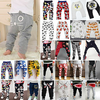 Newborn Baby Harem Pants Toddler Kids Boy Girl Cotton Leggings Bottoms Trousers