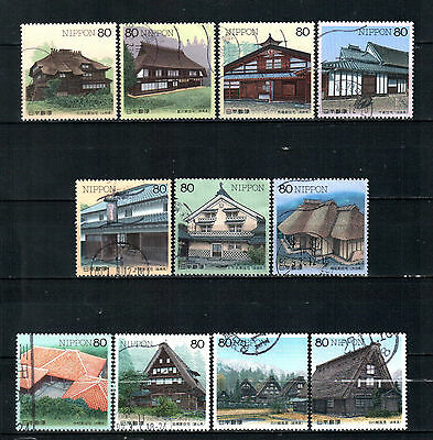 Japan 1997-9, Traditional Japanese House,  used stamps.