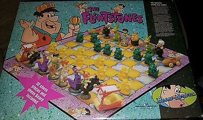 Flintstones chess set Toy Game Boxed Hanna Barbera Characters