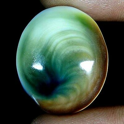 25.60 Cts. 100% Natural Attractive Designer Shiva Eye Oval Cabochon Gemstone