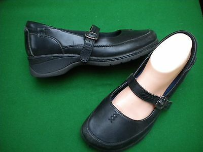 Ladies  Colorado Black Leather Mary Jane Style  Low Wedge Heel Shoes Size 9