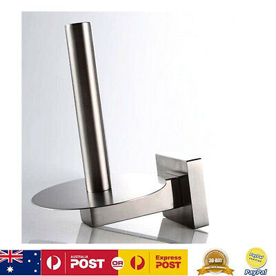 New Stainless Steel Wall Mounted Toilet Roll Paper Towel Holder Upright Hanger