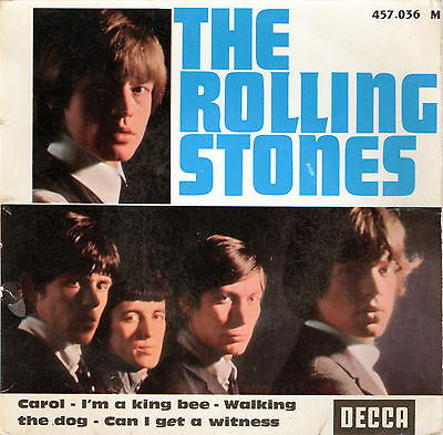 "The Rolling Stones - Carol / I´m King Bee / Walking The Dog - Vinyl-Single 7"" EP"