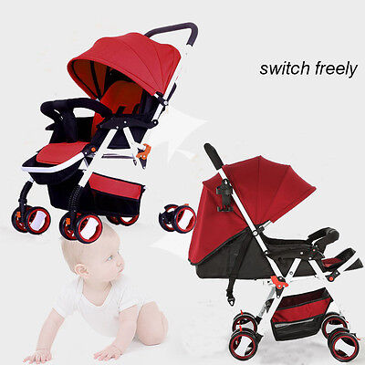 Kid Toddler Child Layback Recline Umbrella Pram Fold Baby Stroller Lightweight