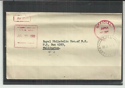 Samoa 1968 Official Cover to NZ with interesting Cachet's RARE