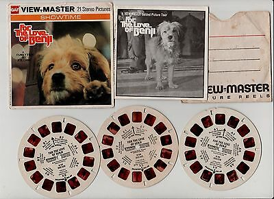 For the Love of Benji VIEW MASTER 21 Stereo Pictures GAF H54 VINTAGE 1977