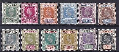 Gambia  1904 - 06  S G 57 - 68  Set Of Twelve  To  2/- V L M H  Cat £275