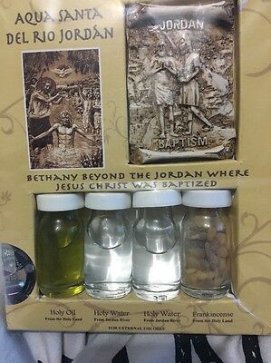 Holy water from jordon river,baptism site of jesus christ,holy oil,frankincense