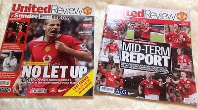 2 Manchester United Review programmes from 2006