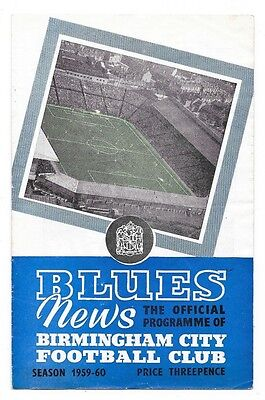 Birmingham City v Union Saint Gilloise, 1958-60 - Fairs Cup Semi-Final Programme
