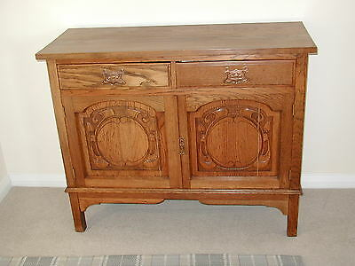 Arts and Crafts solid oak sideboard