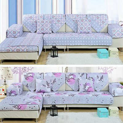 Chic Sofa Mat Couch Reversible Slipcover Lounge Seat Print Cover Decorative Pad