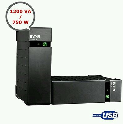 Eaton Ellipse ECO 1200 (1200 VA) - Offline - Rack/Tower (EL1200USBIEC) UPS
