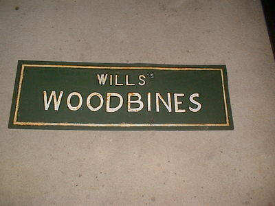 WILLS WOODBINES CIGARETTES LARGE METAL  advertising sign ,  RUSTY