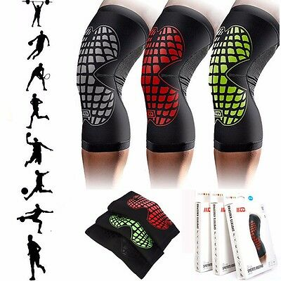 Medical Compression Elastic Knee Support Sleeve Brace Patella Injury Arthritis H