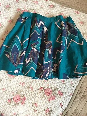 Girls Ted Baker Green Pleat Skirt Excellent Condition 2-3 Years