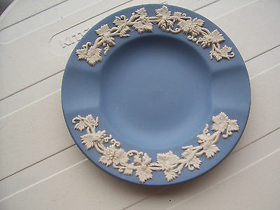 Blue Jasper Ware Two Slot Ashtray With Vine Leaves Wedgwood Collection Exc.condn