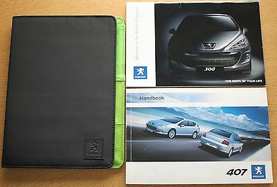 Peugeot 407 And 407 Sw Owners Manual Handbook Wallet 2006-2008 Pack 11074
