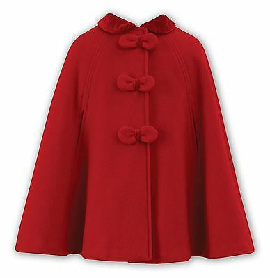 Sarah Louise NEW SEASON Girls Red Wool Cape Style 010619 All Sizes 25% off RRP