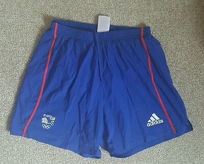 Official Olympic Team GB medium length shorts ATHLETE ISSUE Rare. 2008 Beijing