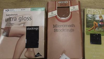 Joblot Of Assorted Supermarket Stockings - 4 Pairs