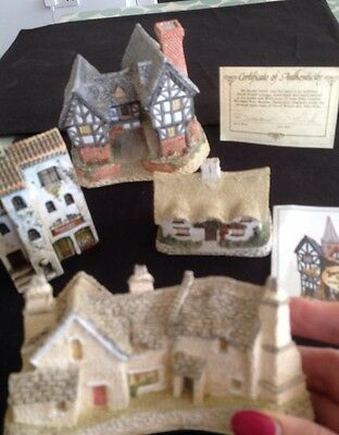 miniature pottery houses - Job Lot 4 . David Winter And 1 Gault French