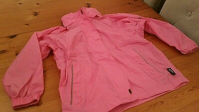 Girls pink Regatta waterproof and breathable jacket size 5-6 years
