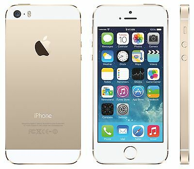 APPLE iPhone 5s, Smartphone, 32 GB, 4 Zoll, Gold, LTE OVP