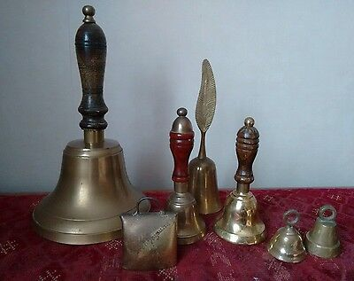 Collection of 7 Brass Bells