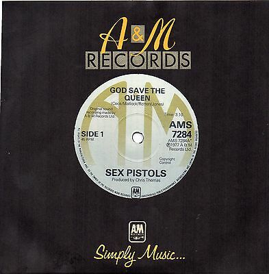 Sex Pistols - God Save The Queen A&M Repro NEW UNPLAYED Vinyl