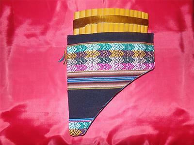 Professional Pan Flute 15 Pipes From Peru - Case Included