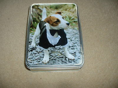 Jack Russell Terrier Tin - Empty