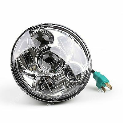 1x 5-3/4 5.75 Inch Daymaker Projector LED Headlight For Harley Davidson SIL AU