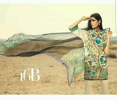 Sana Safinaz original fully emb 3pc stitched suit. BNWT. khaadi gul ahmed
