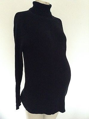 [304] Blooming Marvellous Maternity Black Polar Neck Top Size M (12-14)