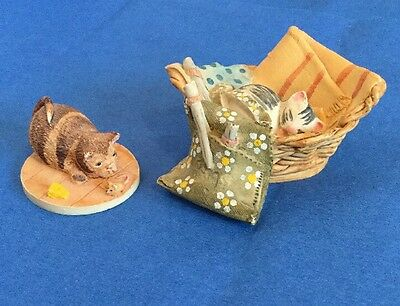 Two Peter Fagin Colour Box Cats