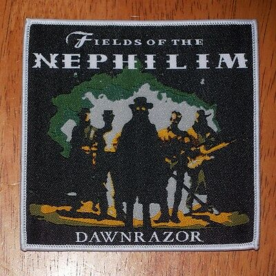 Fields Of The Nephilim Downrazor white woven patch aufnäher limited edition rock