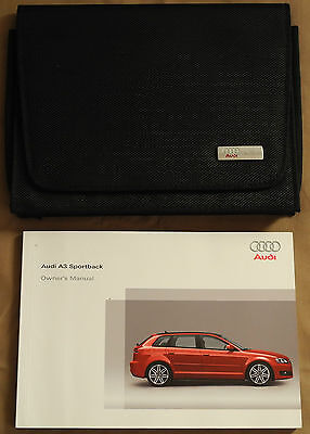 AUDI A3 SPORTBACK HANDBOOK OWNERS MANUAL FOR 2008-2010 CARS ref509