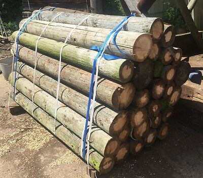 8ft Reclaimed Telegraph Poles In Packs Of 30, Ideal For Fencing Strainer Posts