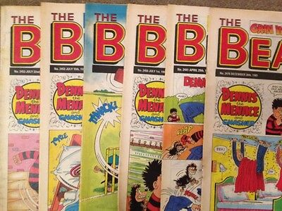 The Beano 6 Issues From 1989