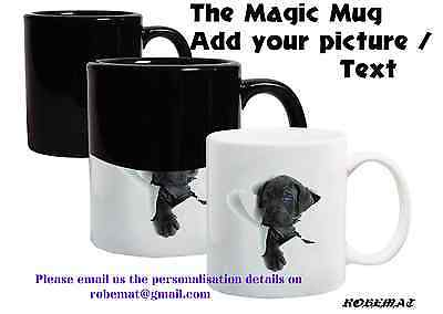 Personalised Colour Changing Heat Coffee Mug Cup YOUR PHOTO &TEXT Magic Mug 11oz