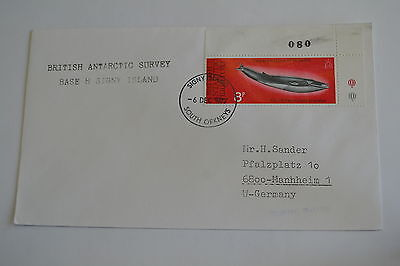 Great Britain Antarctic Signy Island 6/12/1977 Cachet Whale stamp 2